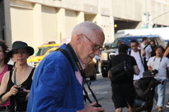Bill Cunningham, new york times photographer Stock Images