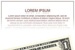 Bill d'un dollar américain Illustration Libre de Droits