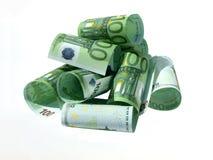 Bill de 100 euros Imagen de archivo libre de regalías