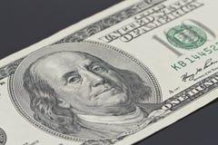 Bill de cientos dólares Foto de archivo libre de regalías