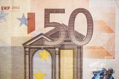 Bill del euro cincuenta Foto de archivo