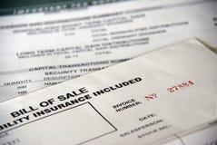 Bill della vendita Immagini Stock Libere da Diritti