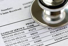 Bill from the doctor. Concepts of rising medical cost Royalty Free Stock Image
