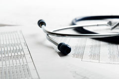 Bill from the doctor concepts Stock Photography