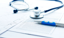 Bill from the doctor concepts. Of rising medical cost Stock Photo
