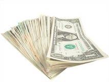 bill dolarów jeden Obrazy Stock
