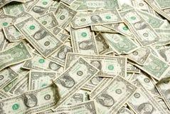 bill dolarów jeden Zdjęcia Stock