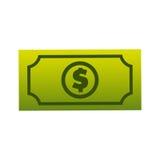 Bill dollar isolated icon Stock Photos