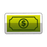 Bill dollar isolated icon Royalty Free Stock Photos