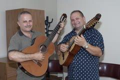 Bill and Edwin Colon Zayas visit Yomo Toro Royalty Free Stock Photo