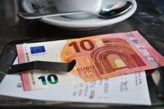 Bill 10 euro Spagna Immagine Stock