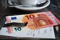 Bill 10 euros España Imagen de archivo
