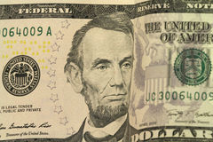 Bill five dollars  background Royalty Free Stock Photos
