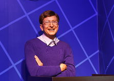 Bill Gates vaxstaty, vaxdiagram, waxwork arkivbild