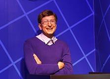 Bill Gates, wasstandbeeld, wascijfer, waxwork Stock Fotografie
