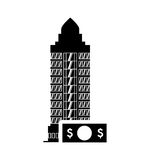 Bill hotel building silhouette design Royalty Free Stock Photo