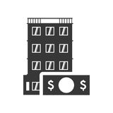 Bill hotel building silhouette design Royalty Free Stock Photography