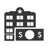 Bill hotel building silhouette design Stock Photography