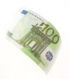 Bill hundred euros. Isolated on white background Royalty Free Stock Photos