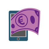 Bill icon. Money and Financial item. Vector graphic. Money and Financial item concept represented by bill icon. isolated and flat illustration Stock Photography