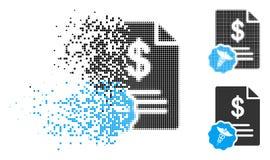 Bill Icon tramé pointillé détruit illustration stock