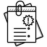 Bill icon vector stock illustration