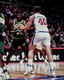 Bill Laimbeer, Detroit Pistons. Detroit Pistons center Bill Laimbeer #40. (Image taken from the color negative Royalty Free Stock Image