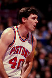 Bill Laimbeer, Detroit Pistons. Detroit Pistons center Bill Laimbeer #40. (Image taken from the color negative Royalty Free Stock Photos