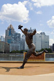 Bill Mazeroski Statue PNC parkerar Pittsburgh Royaltyfri Foto