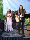 Bill Miller avec le chanteur féminin Images stock