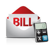 Bill and modern calculator Royalty Free Stock Images