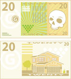 20 Bill. 20 money bill  clip-art illustration Stock Photo