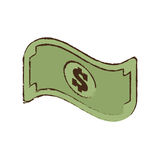 Bill money dollar cash icon sketch. Illustration eps 10 Royalty Free Stock Photo