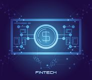 Bill money financial technology icon. Vector illustration design Royalty Free Stock Photos