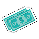 Bill money  icon Royalty Free Stock Image