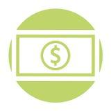 Bill money isolated icon Royalty Free Stock Photo