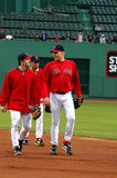 Bill Mueller and Curt Schilling Royalty Free Stock Images