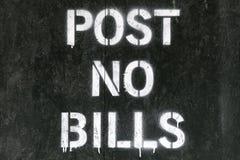 bill nie ma poczty znaku Zdjęcie Royalty Free