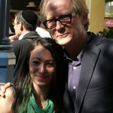 Bill Nighy. William Francis (Bill) Nighy posing with an unknown female fan in Yorkville, Toronto during the Toronto International Film Festival 2009. Bill is in Stock Images
