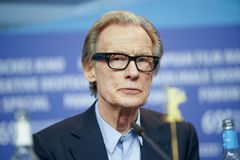 Bill Nighy attends the press conference stock image