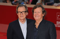 Bill Nighy, David Hare Lizenzfreies Stockfoto