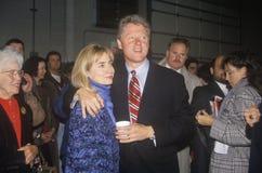 Bill och Hillary Clinton Fotografering för Bildbyråer