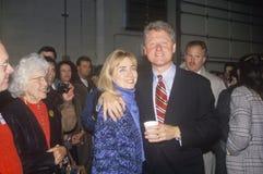 Bill och Hillary Clinton på den St Louis aktionen Arkivfoton