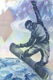 Bill 100 Olympics dos rublos de russo em Sochi Imagem de Stock
