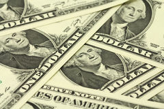 Bill one US dollar Stock Photo