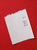 Bill or receipt Royalty Free Stock Images