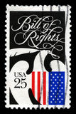 The Bill of Rights US Postage Stamp Stock Photos