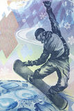 Bill 100 rublos rusas de Olimpiadas en Sochi Imagen de archivo