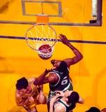 Bill Russell e John Havlicek, Boston Celtics Fotografie Stock Libere da Diritti