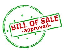 Bill of sale approved. Rubber stamp with text bill of sale approved inside,  illustration Royalty Free Stock Image